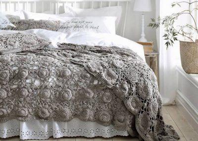 horgolt ágytakaró